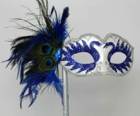 Blue Swan Lake Peacock Mask